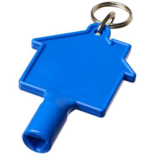Clé de compteur en forme de maison avec porte-clés Maximilia