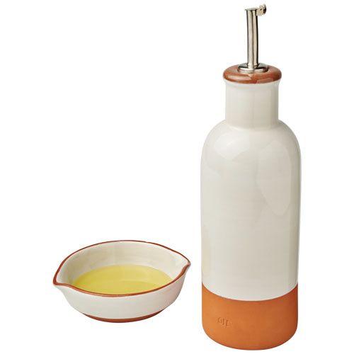 "Conjunto galheteiro e molheira ""Terracotta"" brindes LISBOA"