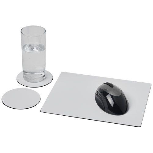 """Combo 2 de alfombrilla para ratón y juego de posavasos """"Brite-Mat®""""  Regalos Promocionales personalizados para Empresas"""