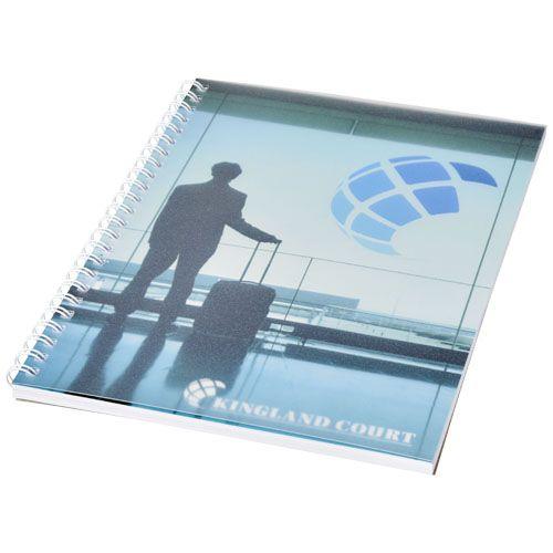 Cahier Desk-Mate® A5 à spirale avec couverture polypropylène  personnalisé montpellier Paris Ile de France