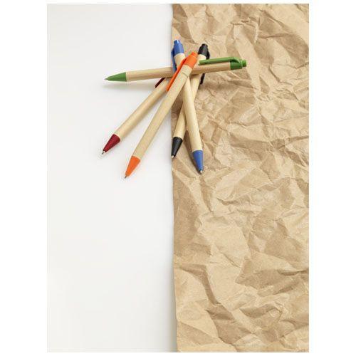 Stylo bille en carton recyclé et plastique de maïs Berk WIZ PUB