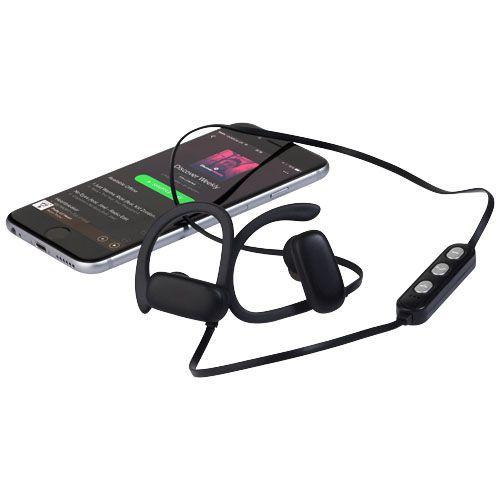 """Auriculares Bluetooth® com logótipo de iluminação """"Brilliant"""" brindes LISBOA"""