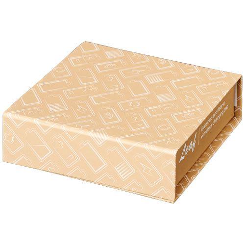 Base de carregamento sem fio em folha de bambu e tecido brindes LISBOA