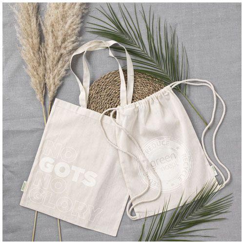 Orissa 100g/m² GOTS Sac à dos en coton biologique avec cordon SOBELPU SPRL objet publicitaire personnalisable Belgique