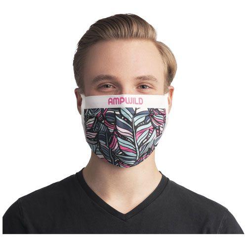 Masque réutilisable avec sublimation et attaches cordon