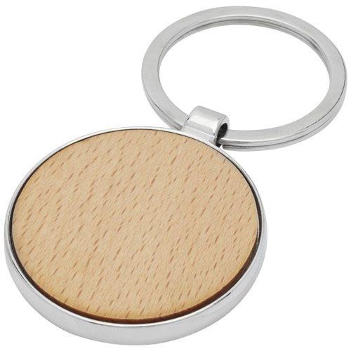 Porte-clés rond Moreno en bois de hêtre