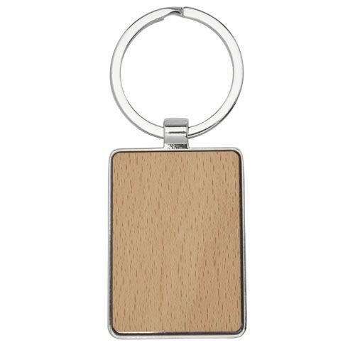 """Porta-chaves retangular em madeira de faia """"Mauro"""" brindes LISBOA"""