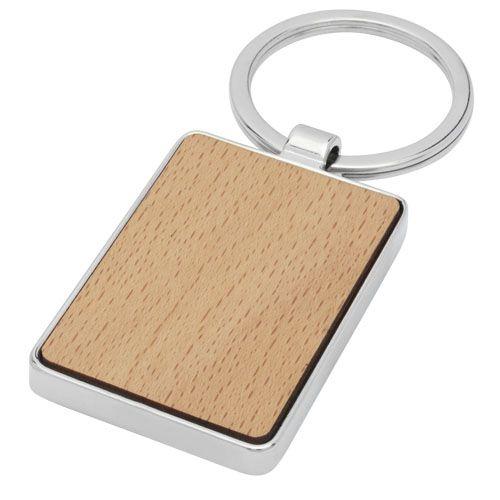 Porte-clés rectangulaire Mauro en bois de hêtre