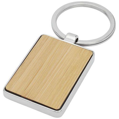 Porte-clés rectangulaire Neta en bambou