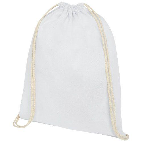 Oregon 140 g/m² cotton drawstring backpack