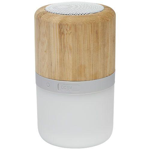 Haut-parleur Bluetooth® Aurea en bambou avec lumière