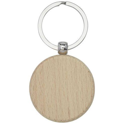 Porte-clés rond Giovanni en bois de hêtre