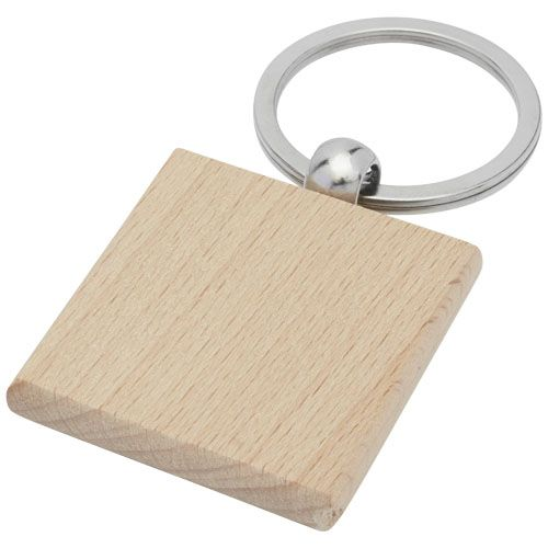 Porte-clés carré Gioia en bois de hêtre