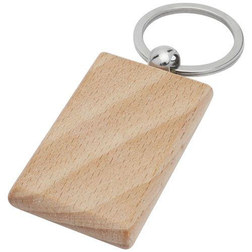 Porte-clés rectangulaire Gian en bois de hêtre