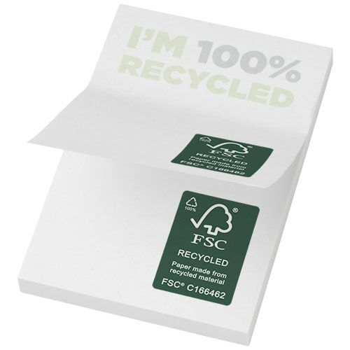 Notes autocollantes recyclées 50x75mm Sticky-Mate®