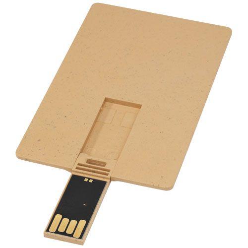 Clé USB biodégradable rectangulaire en forme de carte de crédit