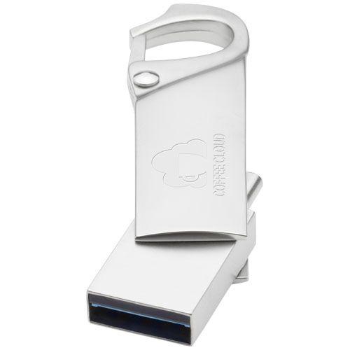 Clé USB 3.0 type C avec mousqueton par 2G Publicité