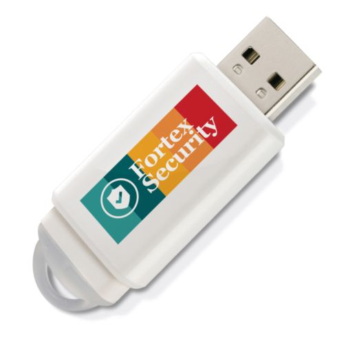 Clé USB Slider 32 GB Blanche