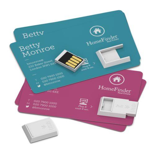 Clé USB prête-à-coller 1 GB Blanc Mat