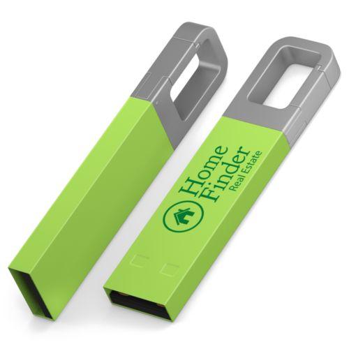 Clé USB Iron Hook Color 1 GB Vert PMS2283