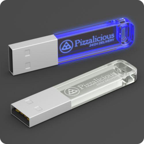 Clé USB Iron Crystal Candy 8 GB Bleu transparent