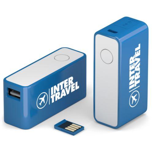 Power Bank mini Versa Flash 2200 mAh 8 GB Bleu PMS2151