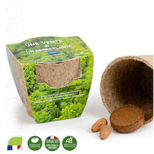 Petit kit de plantation avec pot tourbe biodégradable