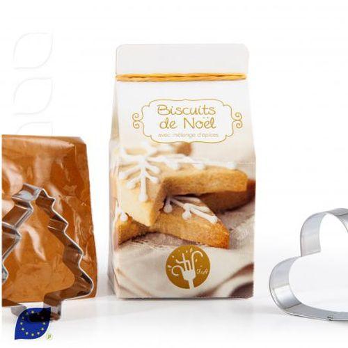 Mini-coffret gastronomie Biscuits de Noël version quadri