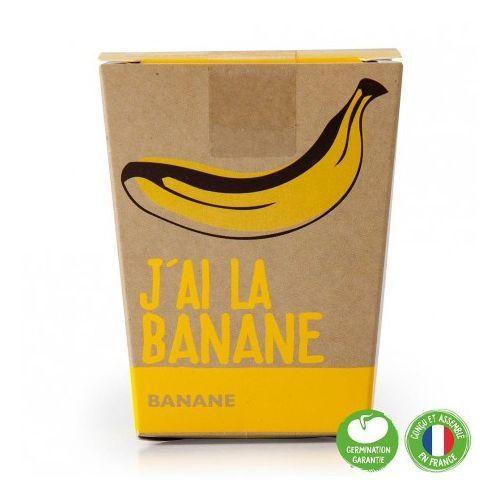 Pot Message J'ai la super banane avec bananier à semer - Radis et Capucine