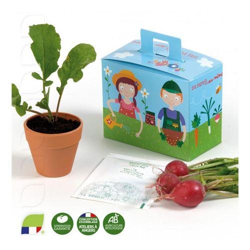 Kit de plantation Mallette de jardinage avec pot et graines