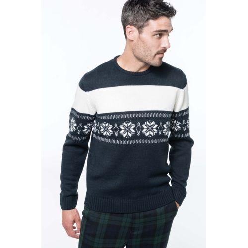 Pullover motif étoile