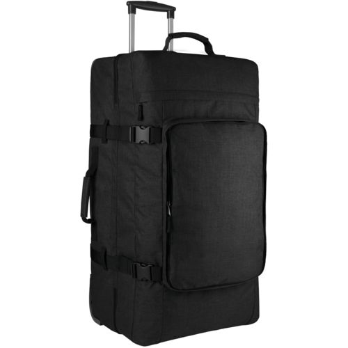 Large dual-compartment trolley bag