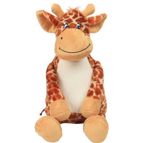 Peluche zippée Giraffe