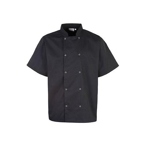 Studded Front Short-SleevedChef's Jacket