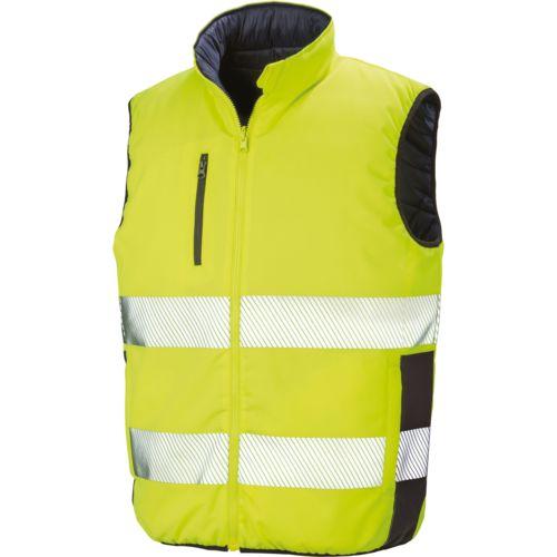 Reversible soft padded safety gilet