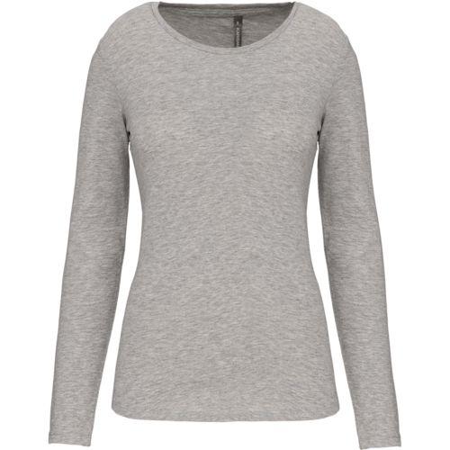 Ladies long-sleeved crew neck t-shirt