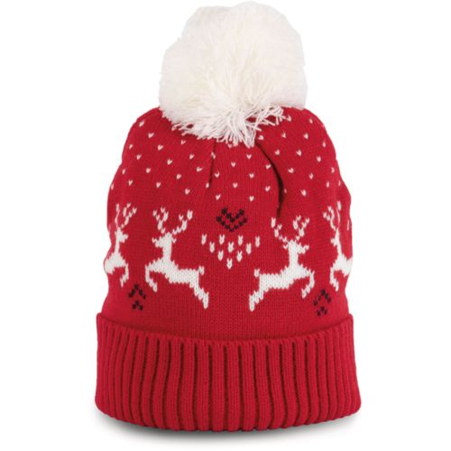 Winter beanie with reindeer design