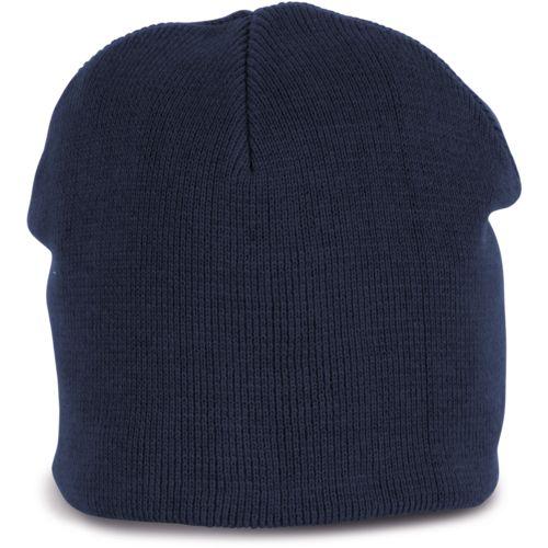 Knitted organic cotton beanie