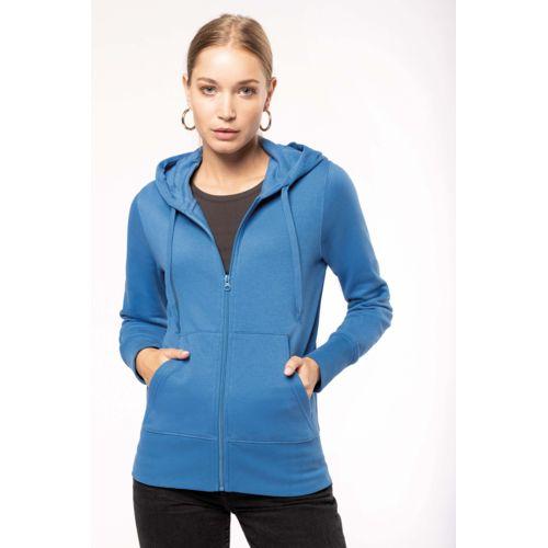 Sweat-shirt à capuche écoresponsable à fermeture éclair femme