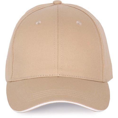 Cap with contrasting sandwich peak - 6panels