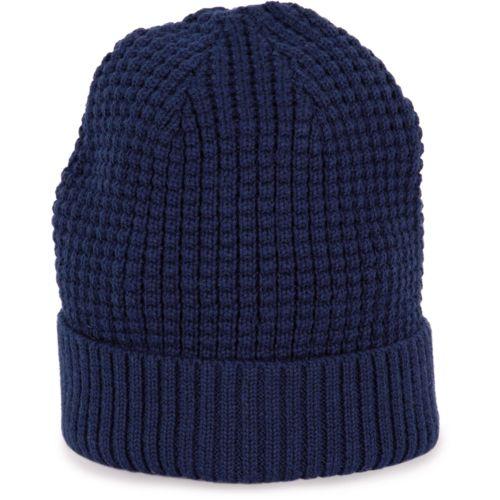 Bonnet tricoté avec fil recyclé