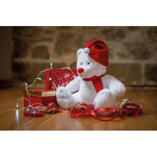 Peluche zippée ours de Noël