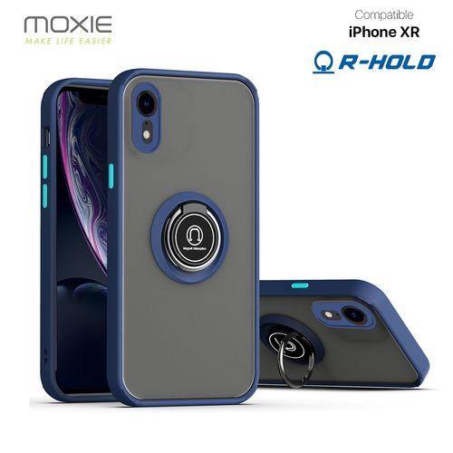 Coque Moxie R-Hold iPhone XR avec ring holder + contour BLEU personnalisé  goodies objets publicitaires