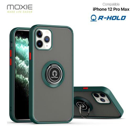 Coque Moxie R-Hold iPhone 12 Pro Max avec ring holder + contour Vert personnalisé  goodies objets publicitaires