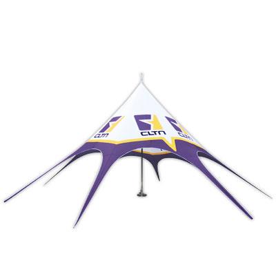 Tente etoile 10m avec mat central
