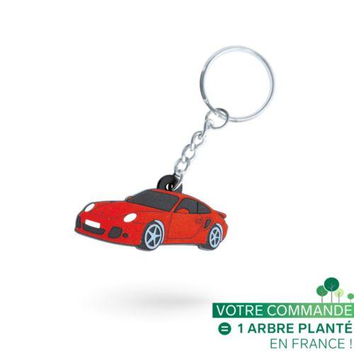 Porte-clés PVC injecté 3D sur 1 face sur mesure