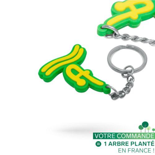 Porte-clés PVC injecté 3D sur 2 faces sur mesure