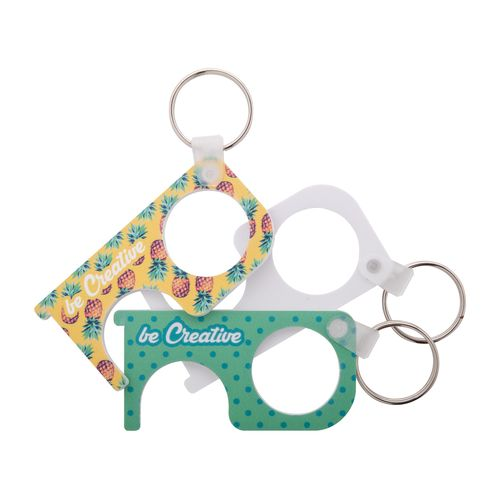 Hygiene key NoTouch Creative COVID19 AZAP  branded Personalized Printed Goodies by Azap Business Gift