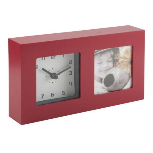 Horloge de bureau avec cadre photo