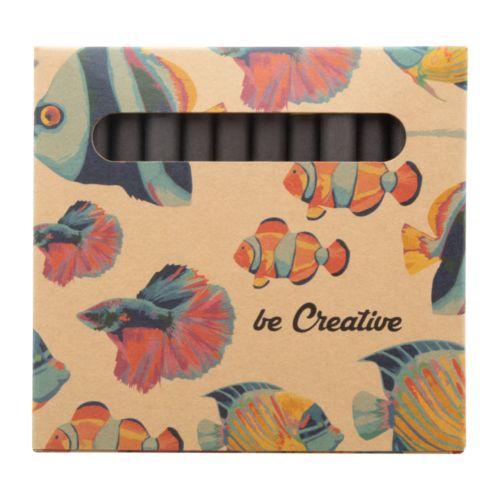 Set de 12 crayons de couleurs personnalisés